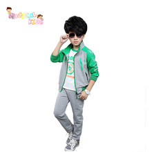 Spring Fashion Cheap Tracksuit Full Sleeve Coat+Trousers+Sleeve T shirt Boy Children Clothes Set Baby Set Kids Clothes 3PCS