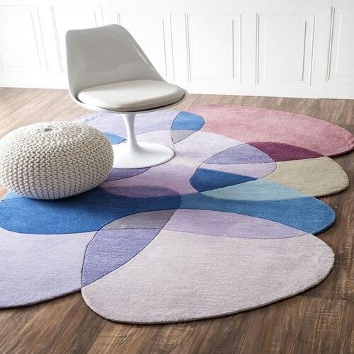 Необычный журнальный столик для гостиной, спальни, акриловые ковры ручной работы на заказ, ковры для гостиной, коврики для спальни - Цвет: 1