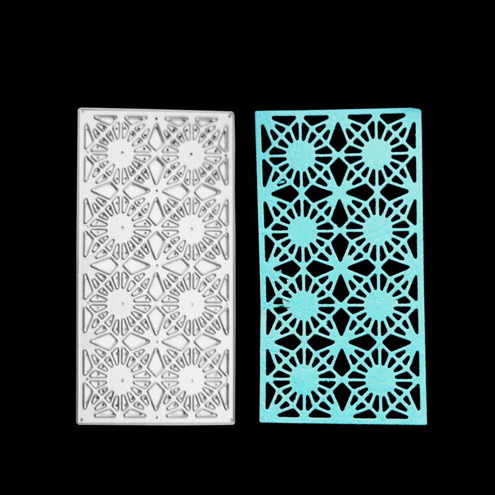 Flower lattice Rectangle Metal cutting die frame craft cutting die embossing stencil for handmade Paper card making scrapbooking