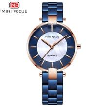 MINIFOCUS часы женские кварцевые Леди наручные часы платье женские брендовые Роскошные модные женские наручные Relogio Feminino