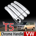 For VW T5 Chrome Handle Covers Trim Set Volkswagen Transporter Multivan Caravelle 2003-2009 Car Accessories Car Styling Sticker