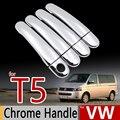 Para VW Chrome Handle Covers Guarnição Set Volkswagen Transporter T5 Multivan Caravelle 2003-2009 Acessórios Do Carro Estilo Do Carro Adesivo