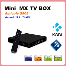 2016 new hot original Mini MX Amlogic S905 Android 5.1 TV BOX 1GB/8GB Gigabit LAN KODI Load smart tv media player pk mini m8s