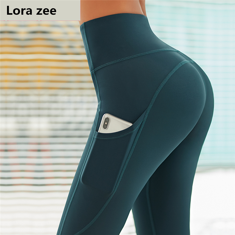 Lower Price with Tummy Control Yoga Pants With Pockets Mesh Outfit 4 Way Stretch Jogging Sport Leggings Green Workout Fitness Pants For Women Easy And Simple To Handle
