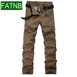 Cargo pants military style men 100 cotton brand trousers militar for spring summer autumn big pockets.jpg 250x250