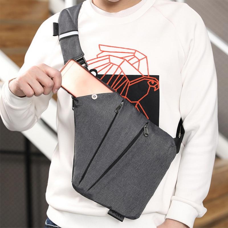SHUJIN Men's Chest Bag Phone Pocket Messenger Sports Multi-function Men Shoulder Handbag Personal Shoulder Anti-theft Bag 2019