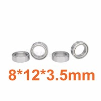 For WLtoys A969 Ball Bearings 8x12x3.5 Axle A949-36 1:18 RC Car Parts