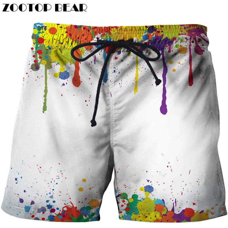 Casual Printed Beach   Shorts   Masculino Men 3d Streetwear   Board     Shorts   Plage Quick Dry   Shorts   Funny Swimwear DropShip ZOOTOP BEAR