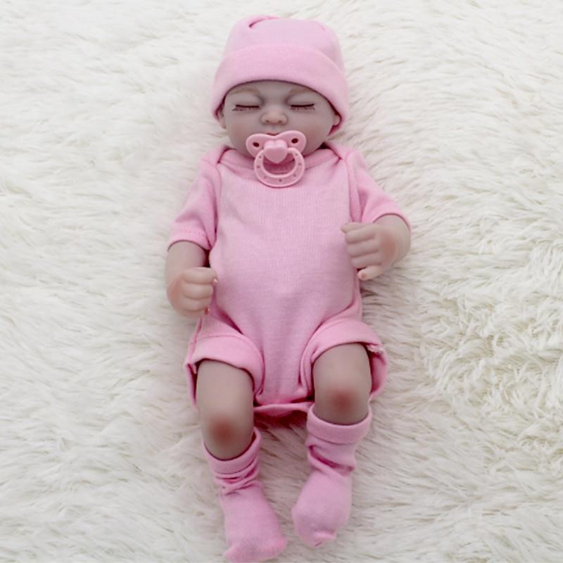 11 28cm Gentle Touch Vinyl Lifelike Full Silicone Mini Bebe Reborn Doll Realistic Lovely Infant Dolls for Girls Toys Gifts