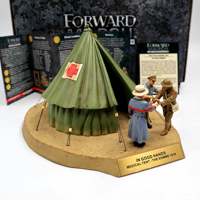 Corgi 1/32 Forward March CC59188 Battle of the Somme Red Cross Casualty Tent IN GOOD HANDS Toys Boy the red tent