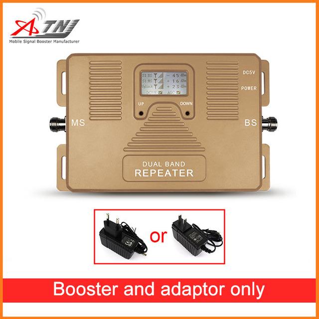 Inteligente de DOBLE BANDA 2g + 4g 850/1800 mhz teléfono móvil amplificador de señal 2g 4g Sólo Booster celular repetidor amplificador con LCD + Adaptador
