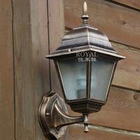 Modern waterproof outdoor sconce up wall light E27 aluminum and glass lamp For Villa corridors luminaire exterieur