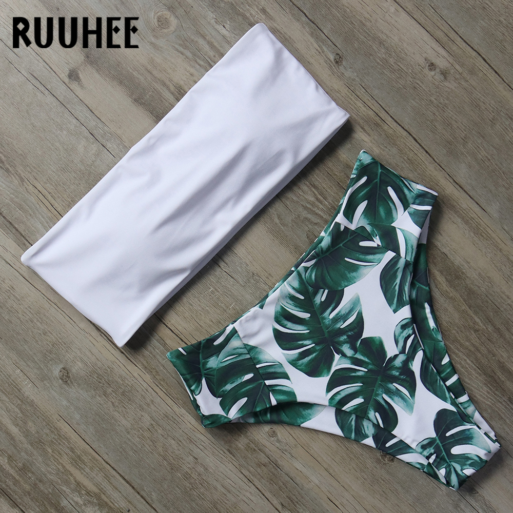 RUUHEE Bandage Bikini Swimwear Women Swimsuit High Waist Bikini Set 2018 Bathing Suit Push Up Maillot De Bain Femme Beachwear ruuhee swimwear bikini women swimsuit push up bathing suit 2017 bikini set shoulder off beachwear maillot de bain femme biquini