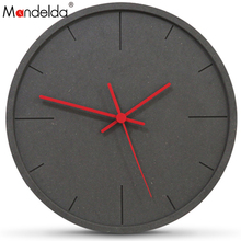 Mandelda Wall Clock Europe Digital Modern Design Large Decorative Clocks Decoracion Vintage Madera Para Casa For Living Room