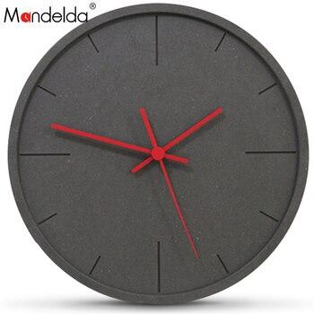 Mandelda, reloj de pared, diseño moderno Digital europeo, grandes relojes decorativos, decoración...