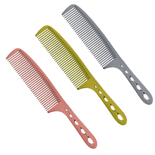 Pro 1 Pcs Hand Made Metal Men Haircut Antistatic Titanium Alloy Hairdressing Cut Comb For Hairdresser A-03 Salon Hair Steel