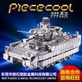 2015 Новый Piececool M2A3 Bradley БМП Танк P054-S DIY Игрушки 3D Лазерной Резки Модели Металлические Головоломки Для Детей Подарки
