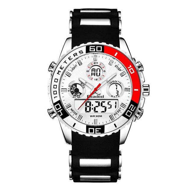 Top Brand Luxury Watches Men Rubber LED Digital Men's Quartz Watch Man Sports Army Military Wrist Watch erkek kol saati 1