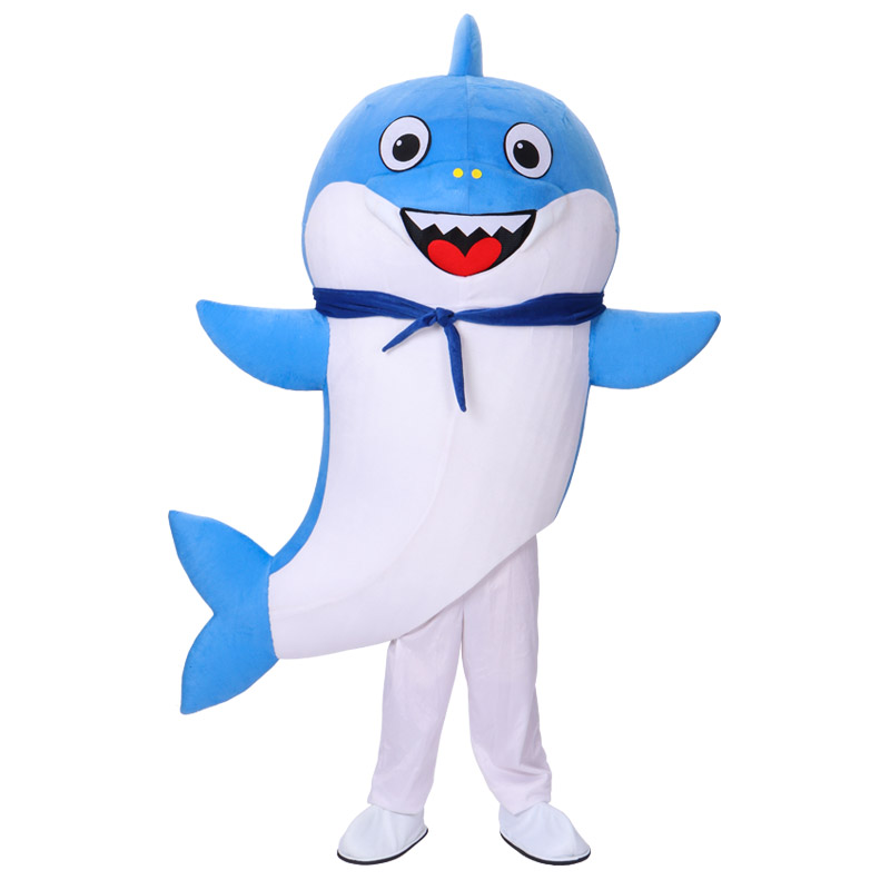Baby Shark Costume Father Shark mascot costume Character Birthday Party Halloween Carnival Festival Fancy Cosplay Dress