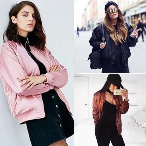 2017 Winter Fall Fashion Ladies Women Long Sleeve Loose Zipper Coat Jacket Short Casual Windbreaker Outerwear Plus Size Clothing