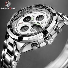 Sports Watches Analog Military Digital Golden-Plating Waterproof Top-Brand Luxury Men