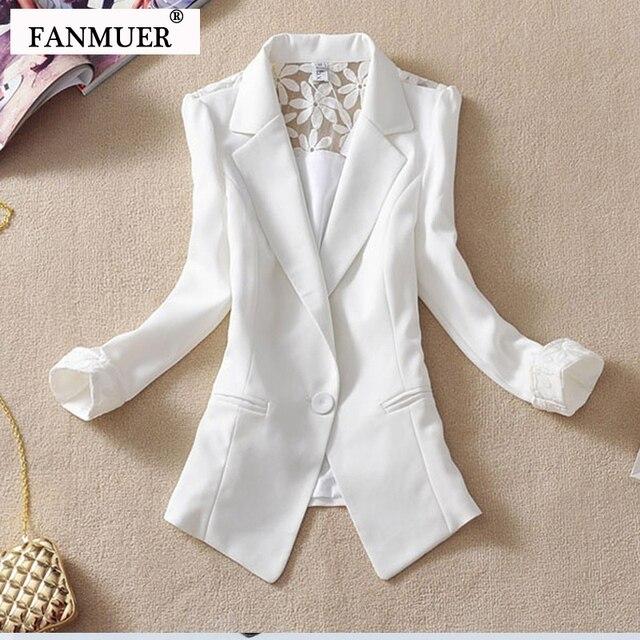 € 13.11 10% de DESCUENTO Fanmuer 2019 traje de mujer chaqueta elegante de  manga tres cuartos blazers mujer prendas de vestir exteriores mujer ropa ...