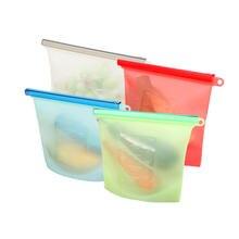 Многоразовый силиконовый пакет для хранения пищевых продуктов