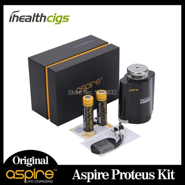 100% Original Aspire Proteus Kit con 10 ml de Capacidad de Doble 18650 Proteus Kit Hookah E-hookah kit