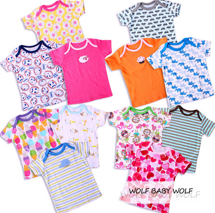Retail-5pcspack-0-24months-short-sleeve-t-shirt-Baby-Infant-cartoon-newborn-clothes-for-boys-girls-cute-Clothing-summer-1