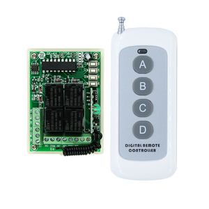 Image 1 - Receiver  Transmitter DC 12V 10A 4 Channel RF Wireless Relay Remote Control Lighting Switch System