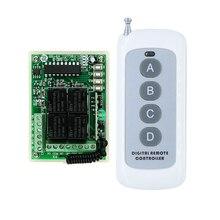 Transmissor receptor DC 12 V 10A 4 Canais RF Sistema de Interruptor De Iluminação do Controle Remoto Sem Fio Do Relé