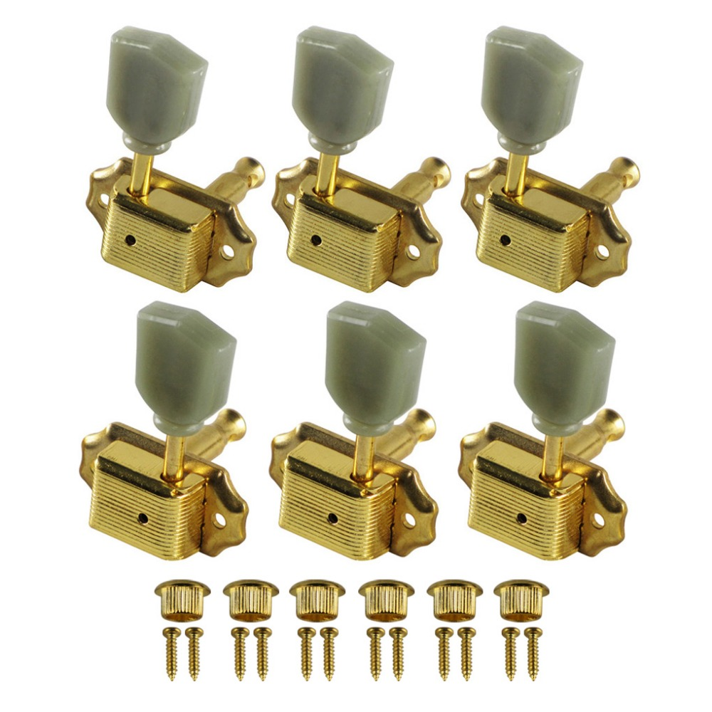 fleor deluxe electric guitar string tuning pegs keys tuner machine heads gold 3l3r for lp style. Black Bedroom Furniture Sets. Home Design Ideas