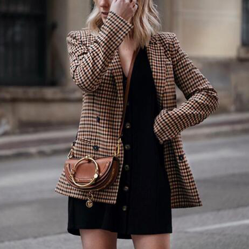 Women Plaid Blazers and Jackets  1