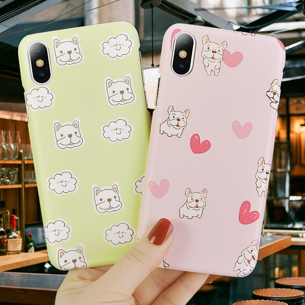 Phone Bags & Cases Cellphones & Telecommunications Hearty Lovely Gray Elk Pattern Phone Case For Iphone X Xr Xs Max Cute English Alphabet Scrub Hard Shell For Iphone 6 6s 7 8 Plus