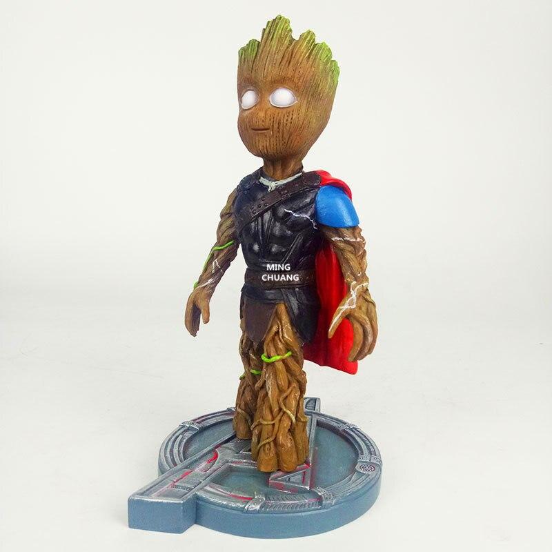 все цены на Play Arts Avengers: Infinity War Statue Superhero Thor Odinson Bust Tree Man COS Stormbreaker Resin Action Figure Model Toy W132 онлайн