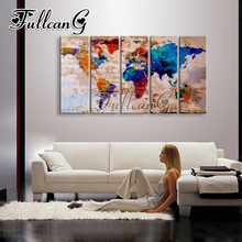 FULLCANG 5pcs color world map diamond painting mosaic cross stitch diy 5d diamond embroidery full square Rhinestone G649 fullcang 5pcs color world map diamond painting mosaic cross stitch diy 5d diamond embroidery full square rhinestone g649