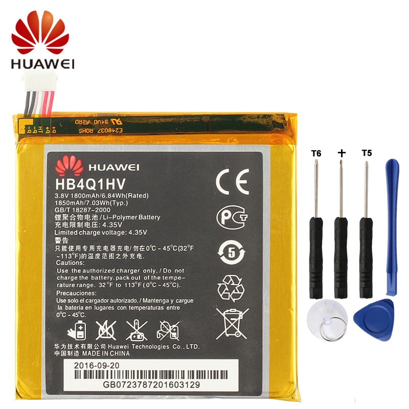 HUAWEI HB4Q1HV Genuine Battery For Huawei T9200 Ascend P1 D1 U9500 U9200 1850mAh Phone + Tool