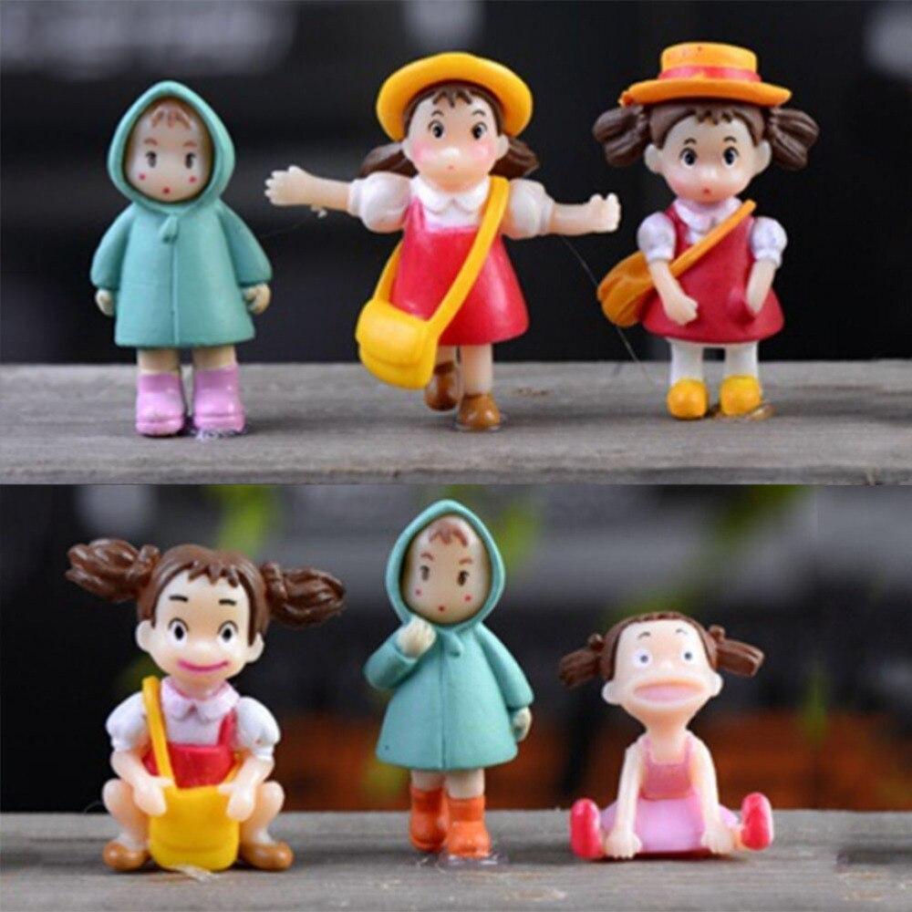 1PC Cute Mini Figurines Miniature Girl Resin Crafts Decor Ornament Fairy Garden Gnomes Moss Terrariums Home Decoration