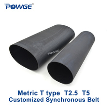 Pulley Timing-Belt Synchronous T-Type Pitch POWGE 5mm T5 T2.5 Trapezoid Customized-Production