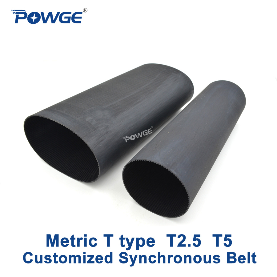 POWGE Metric T Type T2.5 T5 synchronous Pitch 2.5mm 5mm Customized production all kinds of Trapezoid T2.5 T5 Timing Belt pulley цена