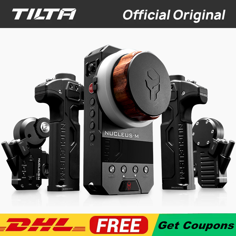 TILTA Nucleus-M Wireless Follow Focus Nucleus Film DSLR Video Camera Lens Remote Control System For 3-Axis Gimbal RED DJI Ronin