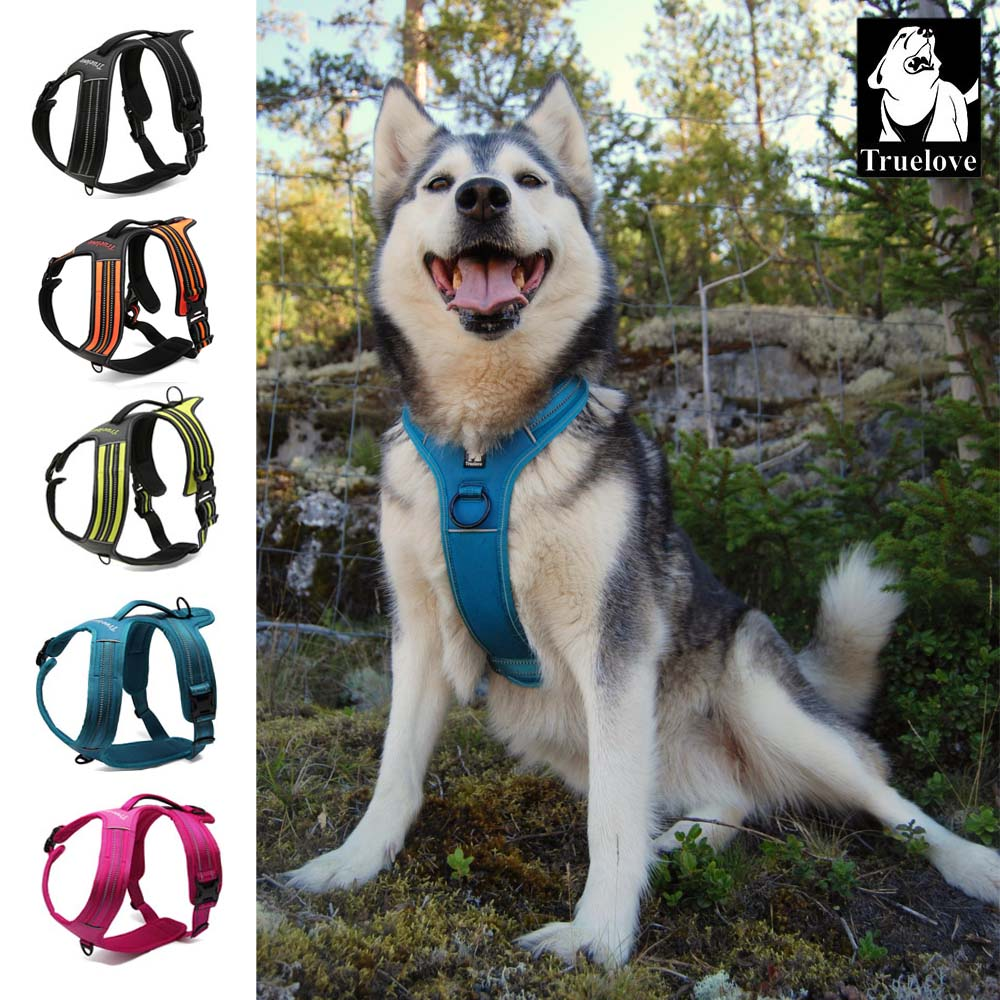 Truelove Sport Nylon Reflective No Pull Poulness Harness Outdoor Adventure Pet Vest با دستگیره xs to xl 5 رنگ در کارخانه سهام