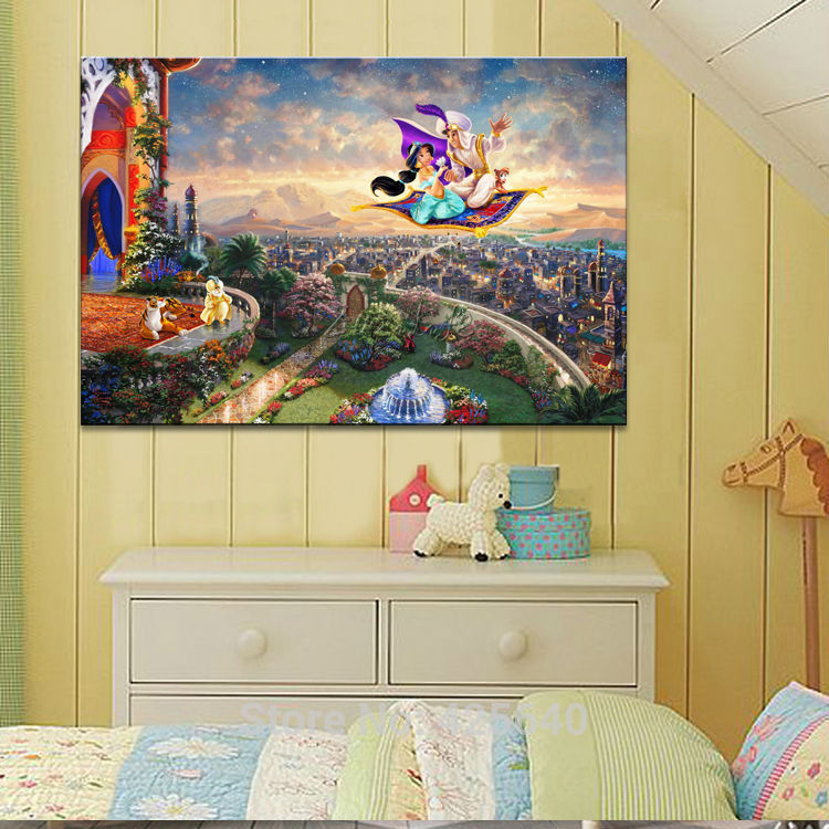 Thomas kinkade oil paintings character art decor painting - Home interiors thomas kinkade prints ...