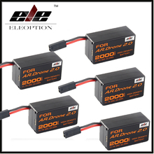 New 5x Eleoption Upgrade Powerful High Density 2000mAh 11.1V Powerful Li-Polymer Battery For Parrot AR.Drone 2.0 Quadcopter(China)