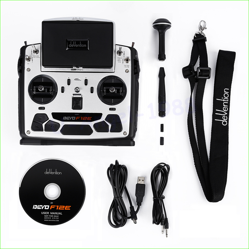 1pcs Walkera Devo F12E DEVOF12E Transmitter FPV Radio 32 channel 5.8GHz Remote Control with 5 LCD Display for H500 X350 f09070 walkera devo f12e transmitter fpv radio 32 channel 5 8ghz with 5 lcd display for h500 x350 pro x800 rc drone quadcopter