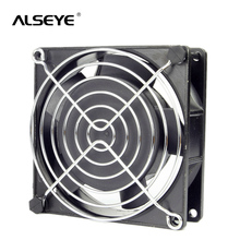 ALSEYE 9cm AC 220/240V Fan Two Ball Bearing Cooling Fan with Cover 50/60 HZ 2600RPM Metal frame 90mm AC cooling fans