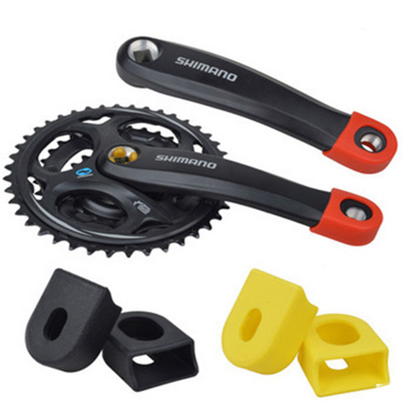 1Pair Mountain Bike Road Bicycle Cycling Crankset Crank-Protective Sleeve Cover