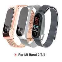 Acier inoxydable pour Xiao mi bande 2 3 4 Bracelet Bracelet montre intelligente Bracelet pour Xiao mi mi bande 4 3 NFC Bracelet accessoires