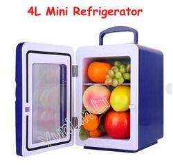 Mini refrigerador doble 4L con refrigerador caliente y frío pequeño refrigerador compacto para vehículo doméstico CW8-4L