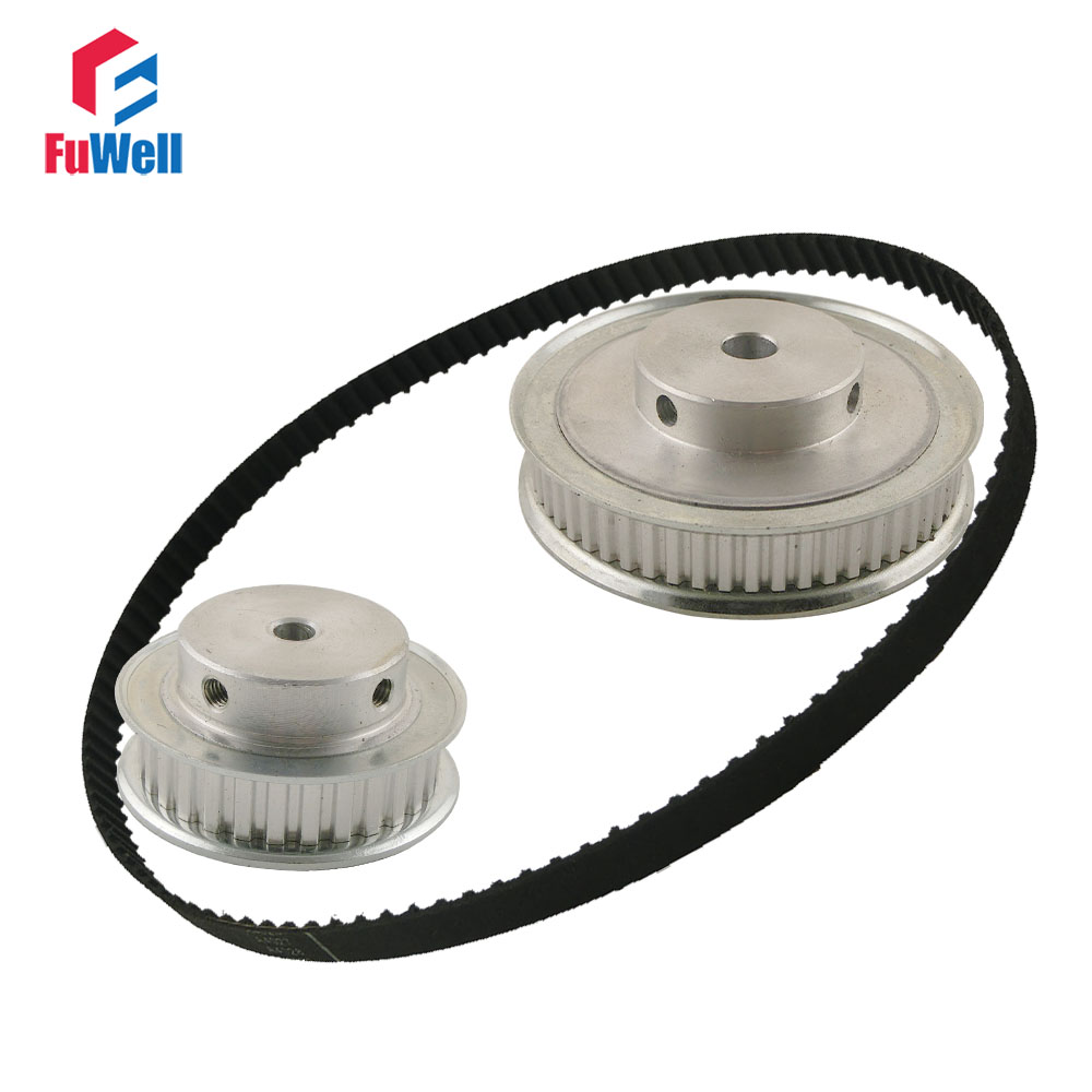 XL Reduction Timing Belt Pulley Set 30T:60T 1:2/2:1 Ratio Gear Kit Shaft Center Distance 100mm 172XL Toothed Belt Pulley купить недорого в Москве